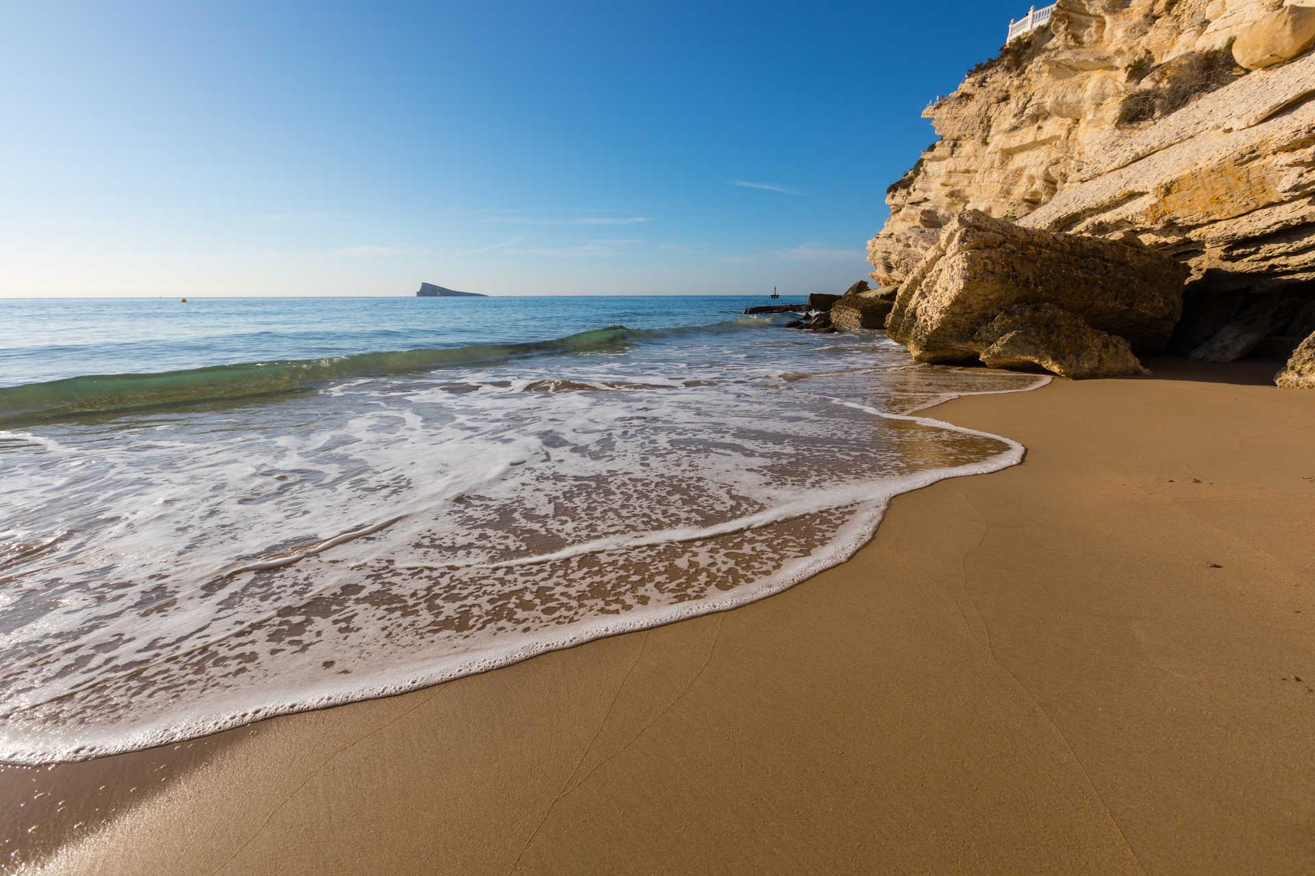 La plage Levante de Benidorm