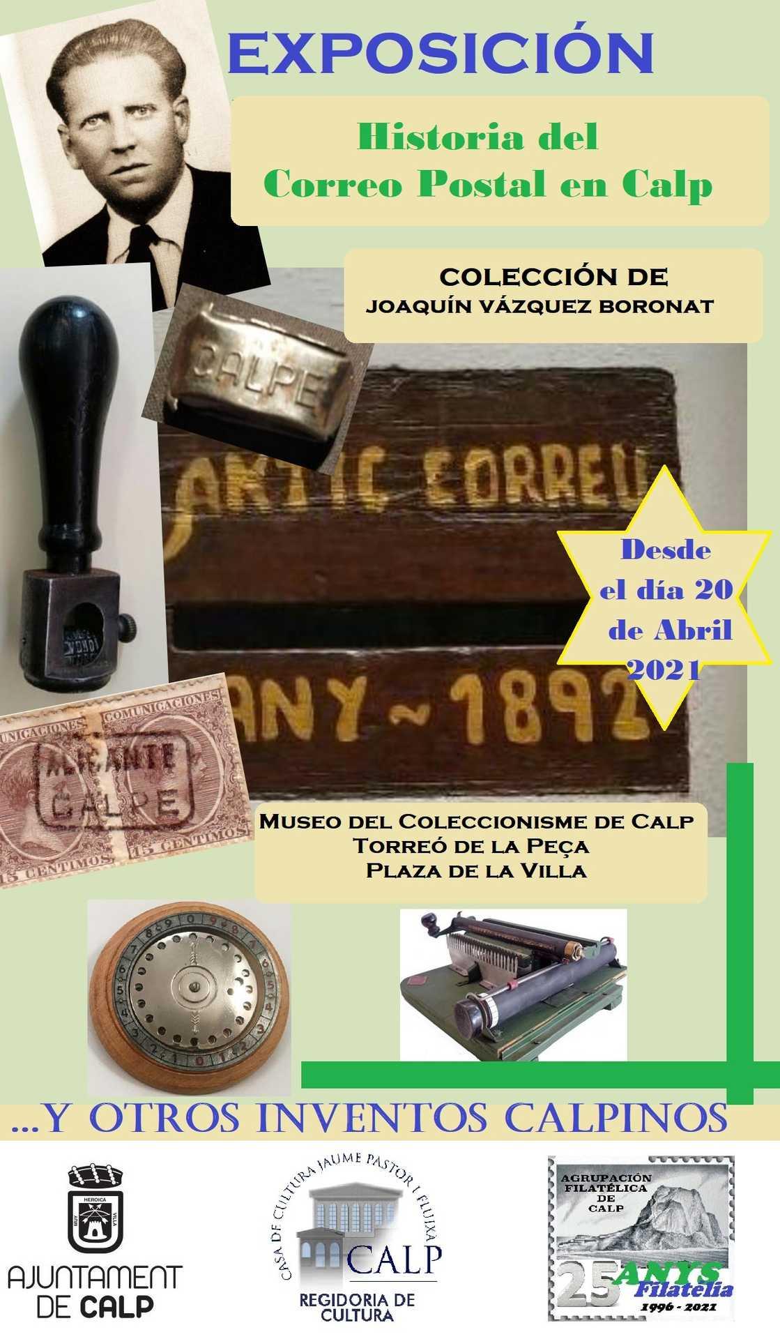 Historia del Correo Postal en Calp. Colección de Joaquín Vázquez Boronat