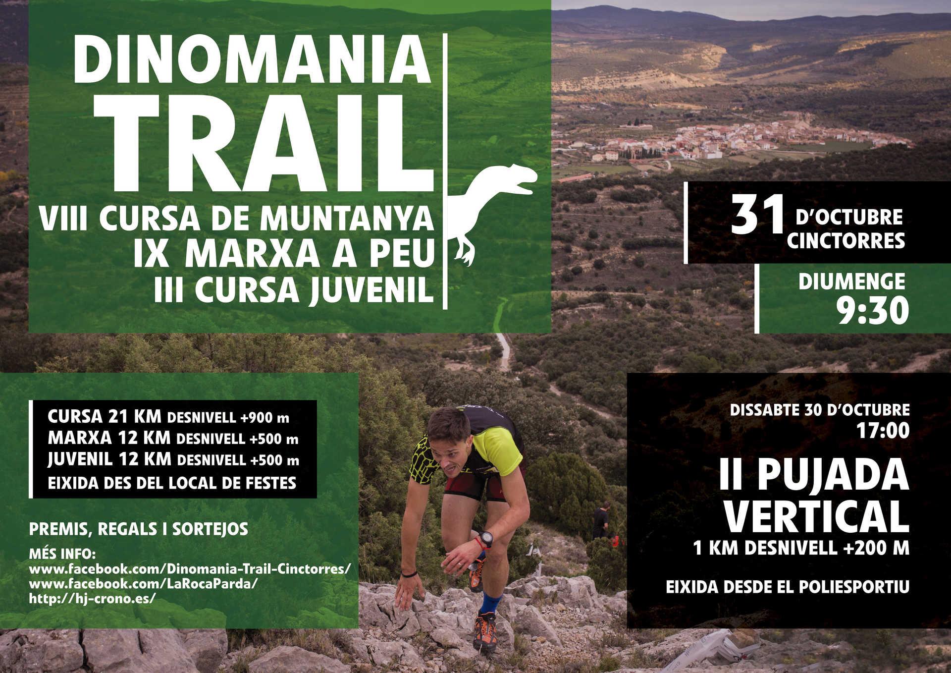 DINOMANIA TRAIL, CINCTORRES. CARRERA DE MONTAÑA