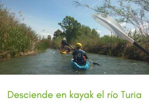 Descenso kayak por el río Túria