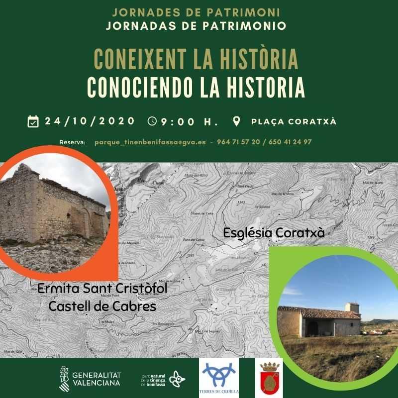 JORNADAS DE PATRIMONIO (Conectando Coratxà y Castell de Cabres a través de su historia.)