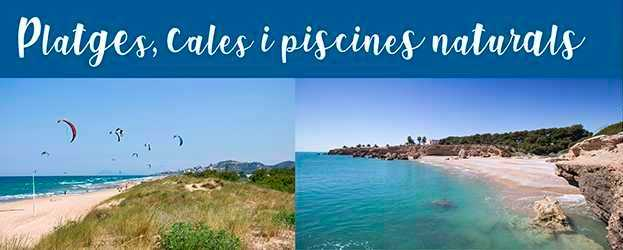 Platges, cales i piscines naturals