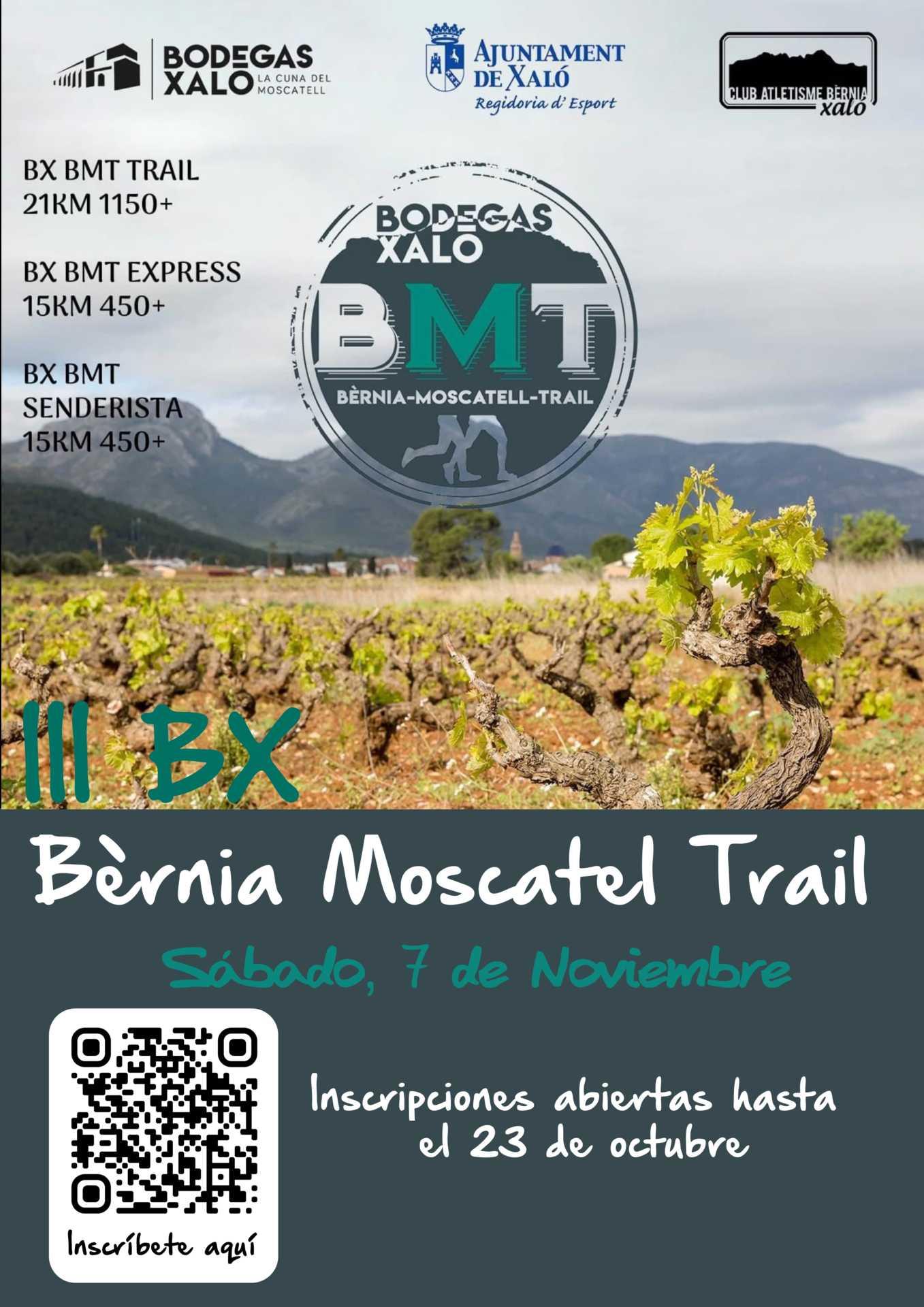 III BX BERNIA MOSCATEL TRAIL (BMT) - CARRERA POR MONTAÑA EN XALÓ