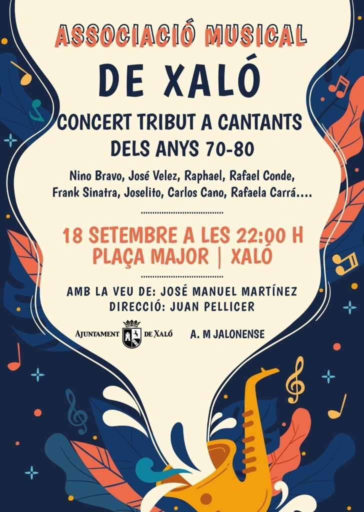 Tribut a cantants del anys 70-80 (70's-80's singers tribute) - Concert in Xaló