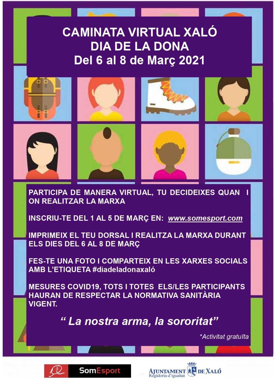 Caminata Virtual - Día de la Mujer Xaló