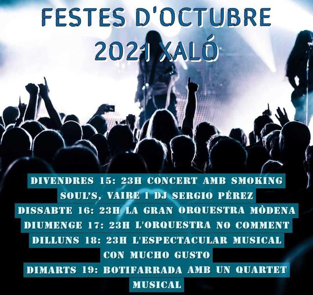 Conciertos y Espectáculos Musicales - Fiestas de Xaló 2021