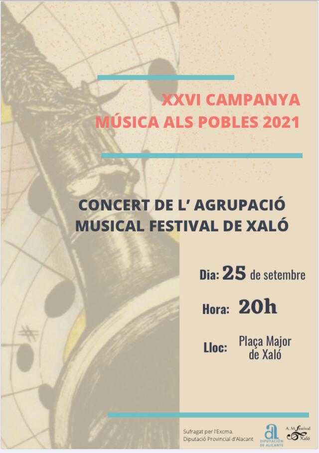 'Música als pobles 2021' - Concierto en Xaló
