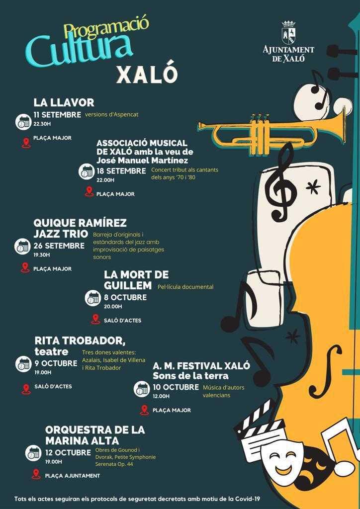 'Progrmació Cultura' - Actividades Culturales en Xaló