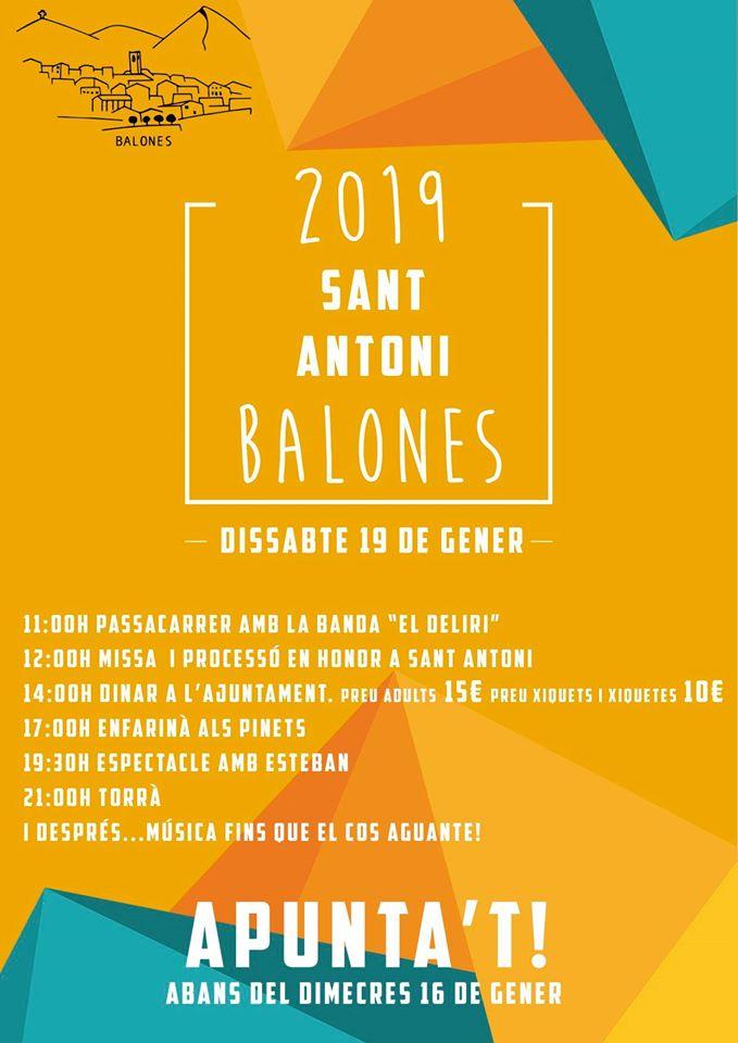 Fiestas de Sant Antoni en Balones