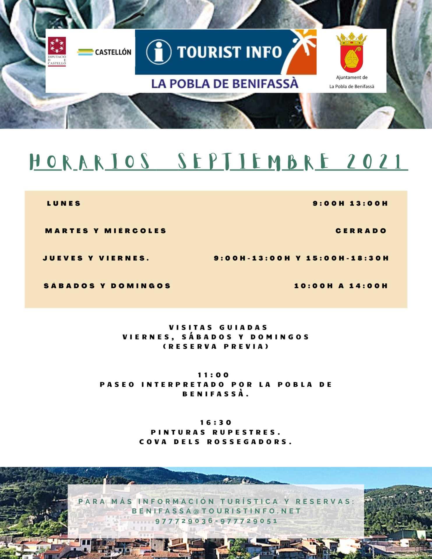 TOURIST INFO TINENÇA DE BENIFASSÀ