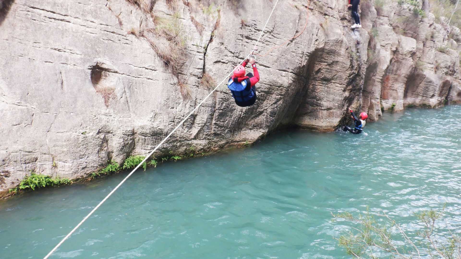 Canyoning with a zip line