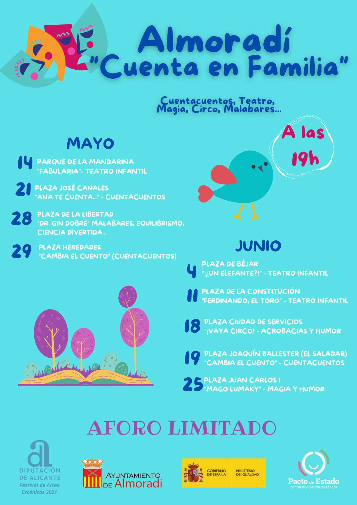 Programación de Animación Infantil en Plazas y Parques de Almoradí