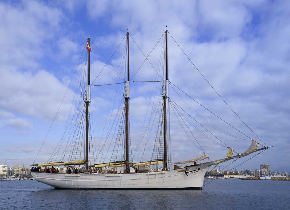 PAILBOAT PASCUAL FLORES IS BACK FROM  ITS INTERNATIONAL TOUR