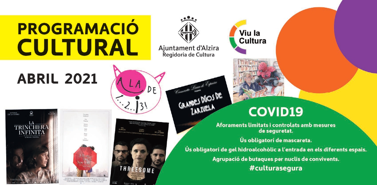 Programació cultural abril 2021