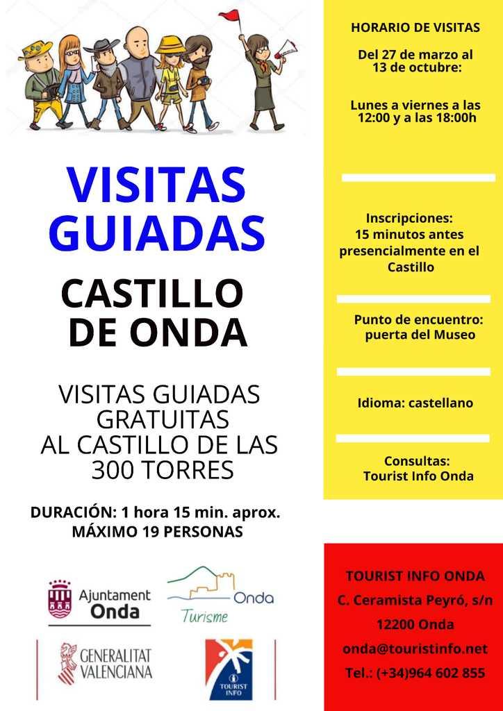 VISITAS GUIADAS AL CASTILLO DE ONDA