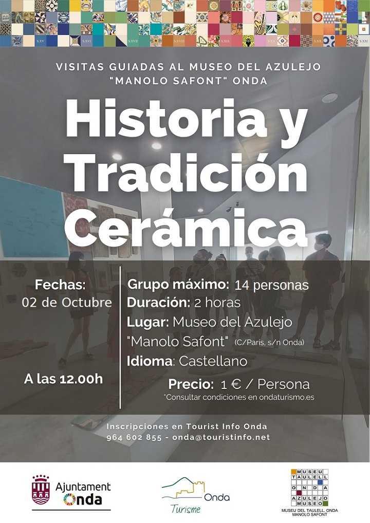 VISITAS GUIADAS AL MUSEO DEL AZULEJO, OCTUBRE 2021: HISTORIA Y TRADICIÓN CERÁMICA