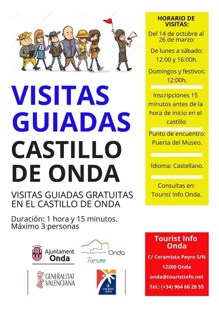 VISITES GUIADES GRATUITES EN EL CASTELL D'ONDA