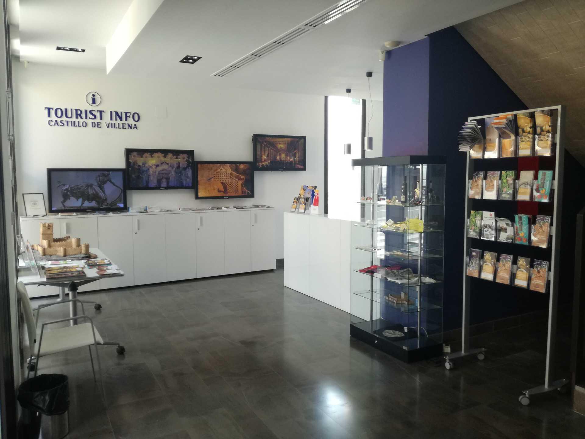 Tourist Info Office at Villena Castle.
