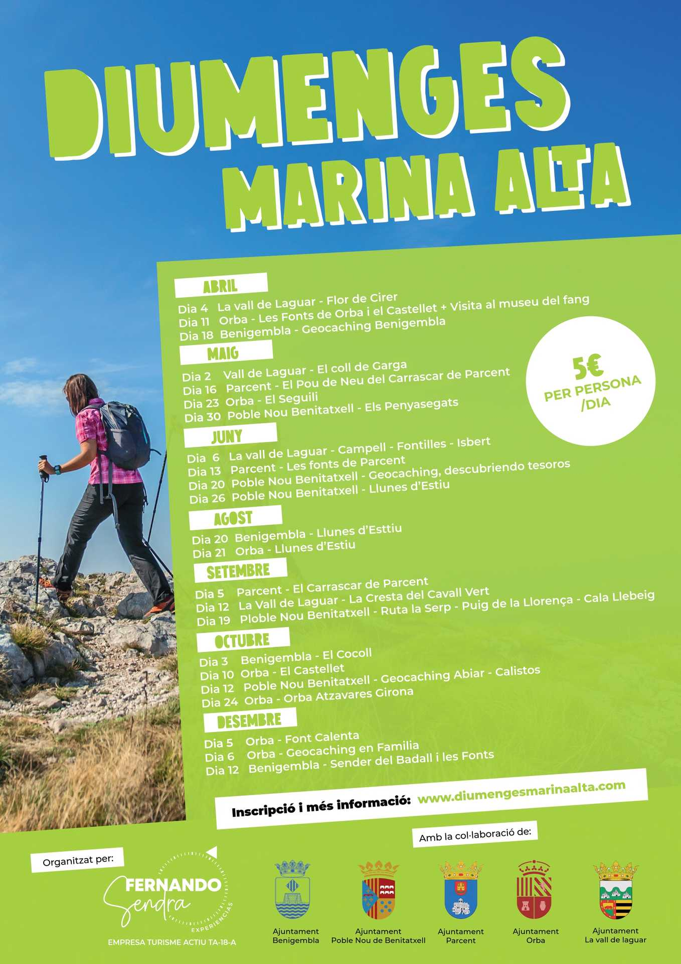 Diumenges Marina Alta - Hiking Routes