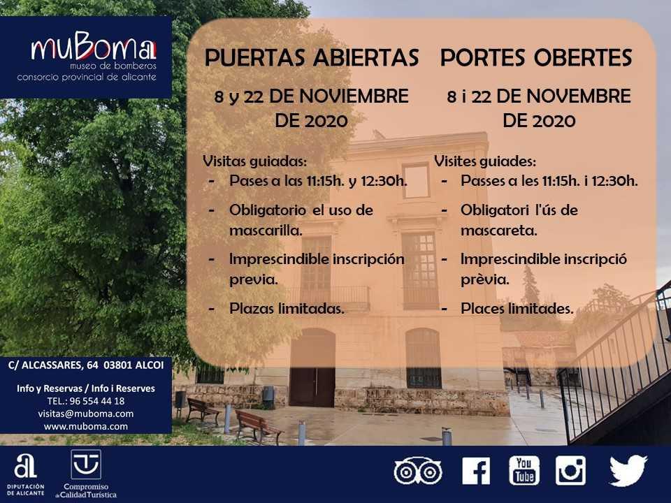 PUERTAS ABIERTAS EN MUBOMA - MUSEO DEL CONSORCIO PROVINCIAL DE BOMBEROS DE ALICANTE (ALCOY)