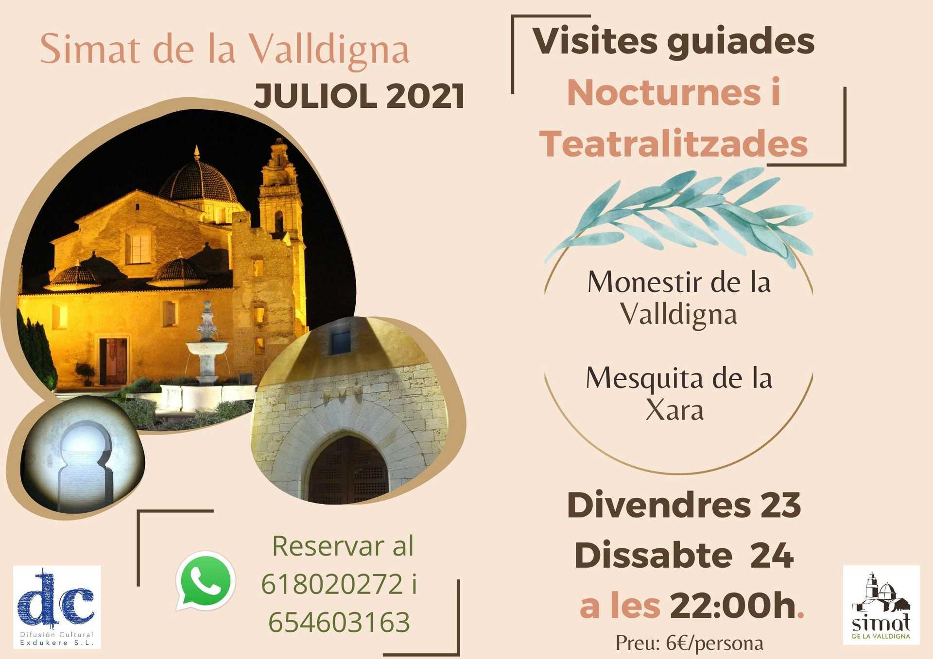 Visitas Guiadas Teatralizadas y nocturnas por Simat de la Valldigna