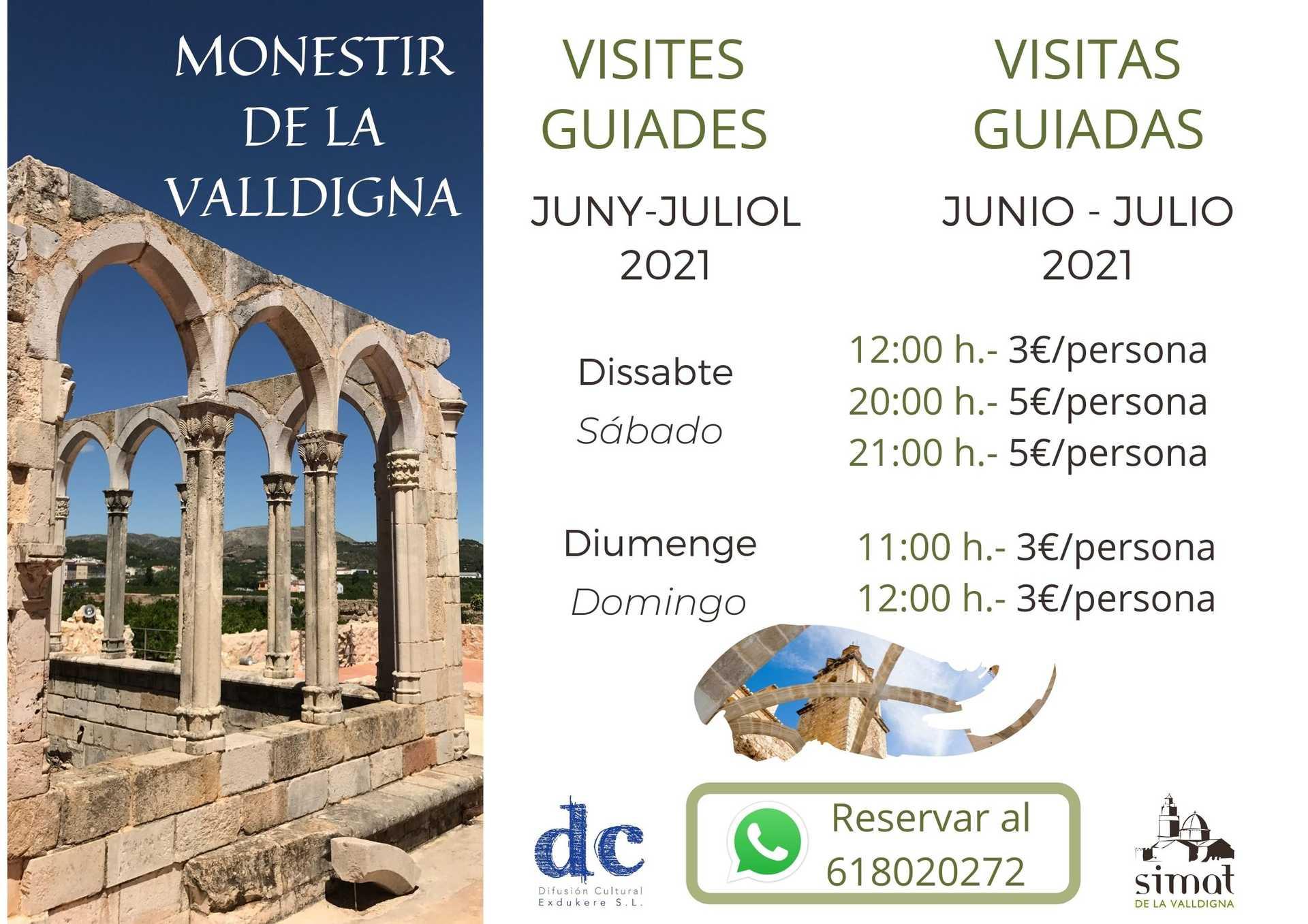 Visitas guiadas al Monasterio de Santa Maria de la Valldigna