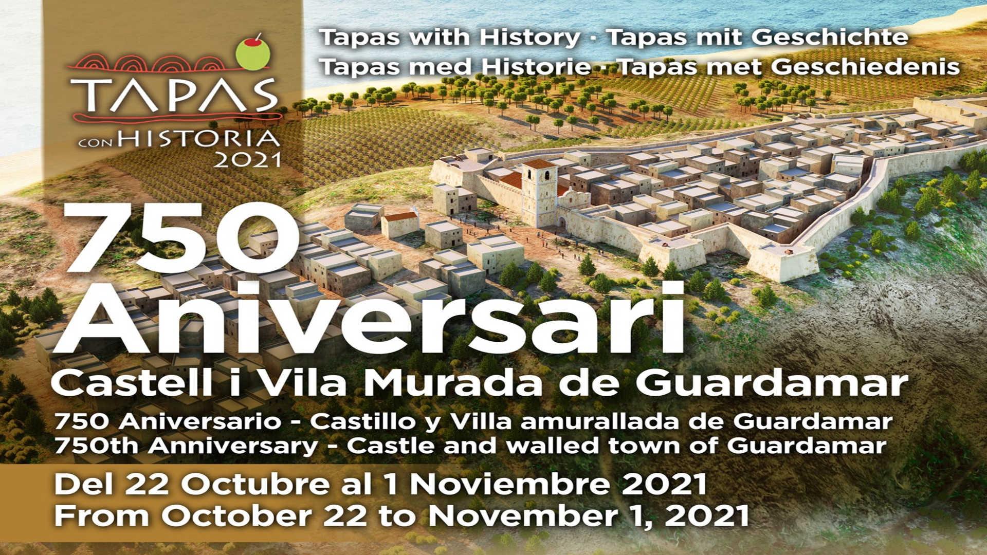 TAPAS CON HISTORIA GUARDAMAR. 750 ANIVERSARI CASTELL I VILA MURADA