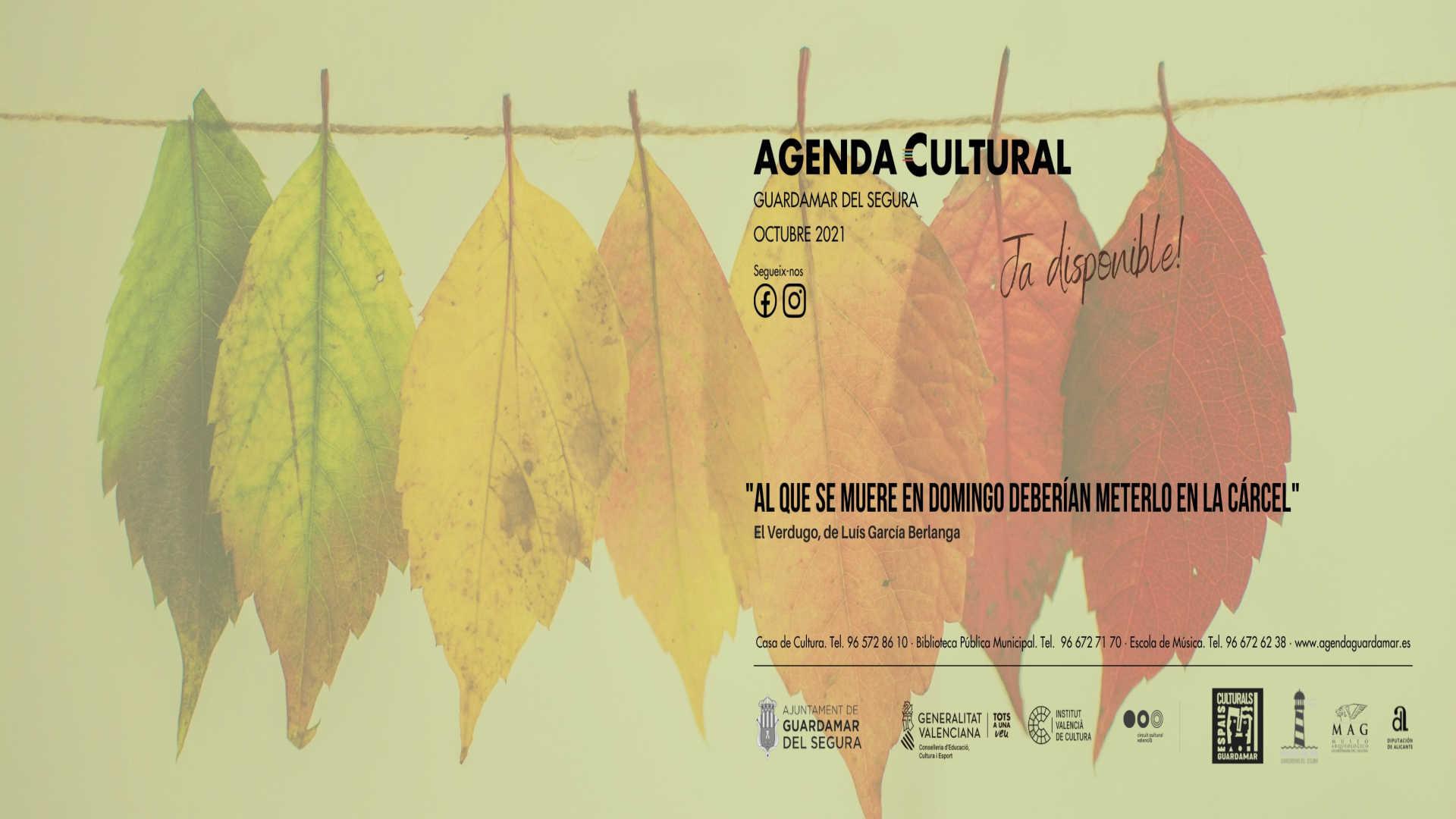 AGENDA CULTURAL OCTUBRE 2021