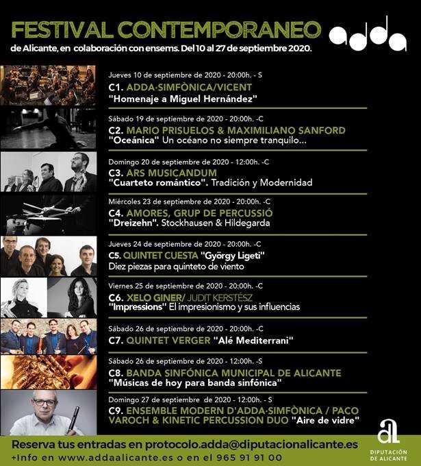 FESTIVAL DE MÚSICA CONTEMPORÁNEA DE ALICANTE, EN COLABORACIÓN CON